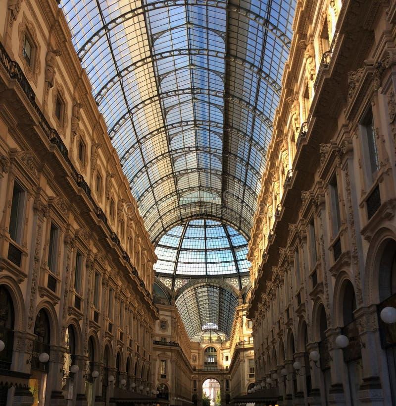 Galeria维托里奥Emanuele米兰 免版税库存图片