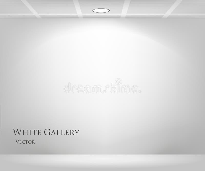 Galeria com quadro vazio ilustração stock