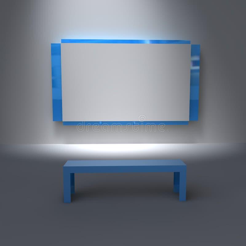 Galeria da carteira pronta para a personalização ilustração stock