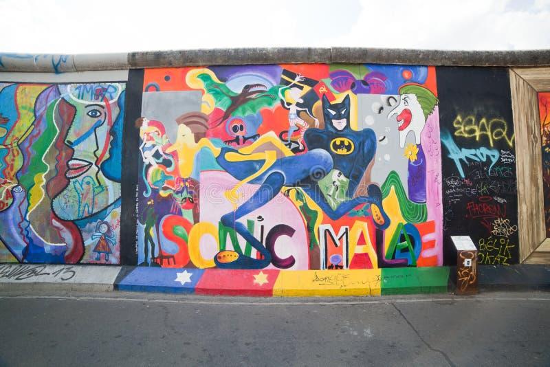 Galeria da zona leste - Berlin Wall. Berlim, Alemanha fotos de stock royalty free