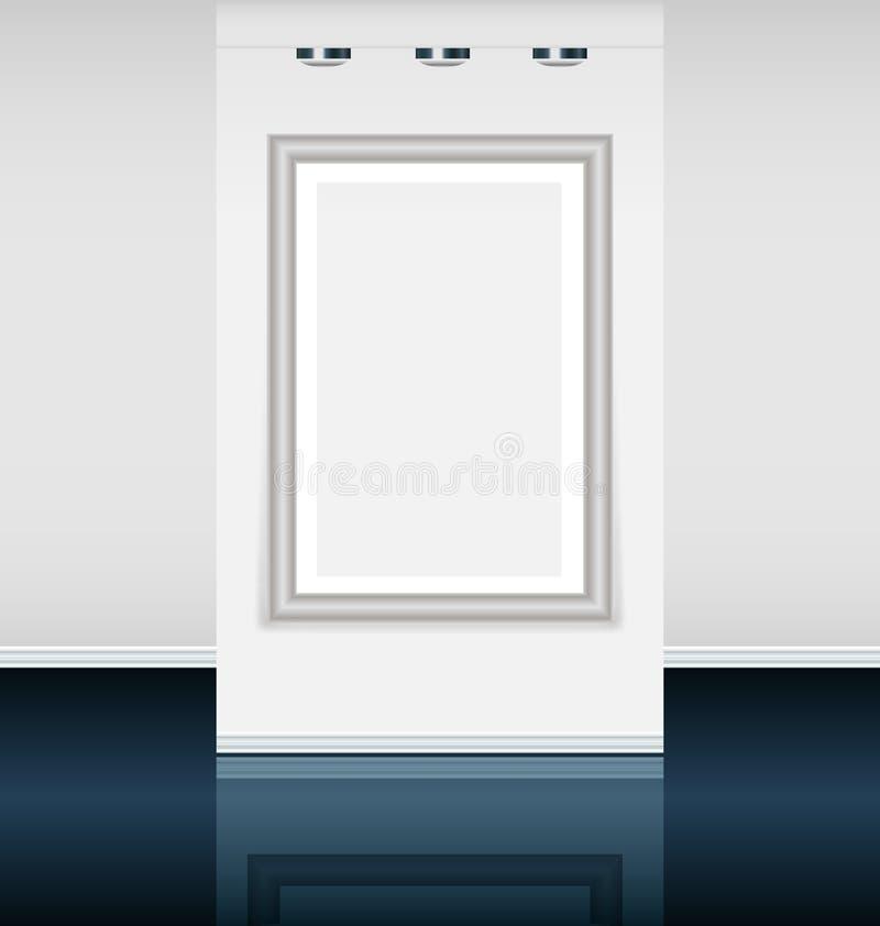 Galeria de arte virtual ilustração stock