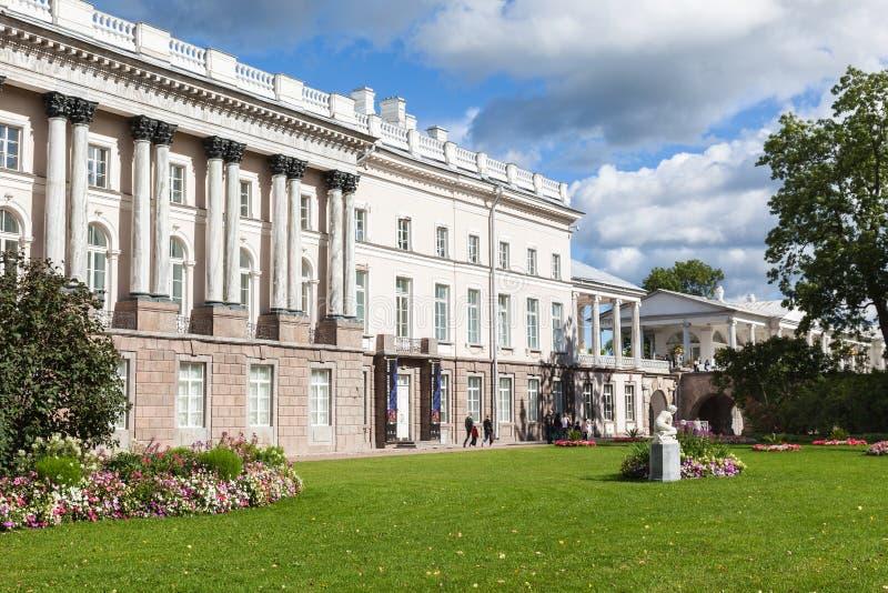 Galeria de Cameron no parque de Catherine em Tsarskoe Selo, St Petersburg imagem de stock royalty free