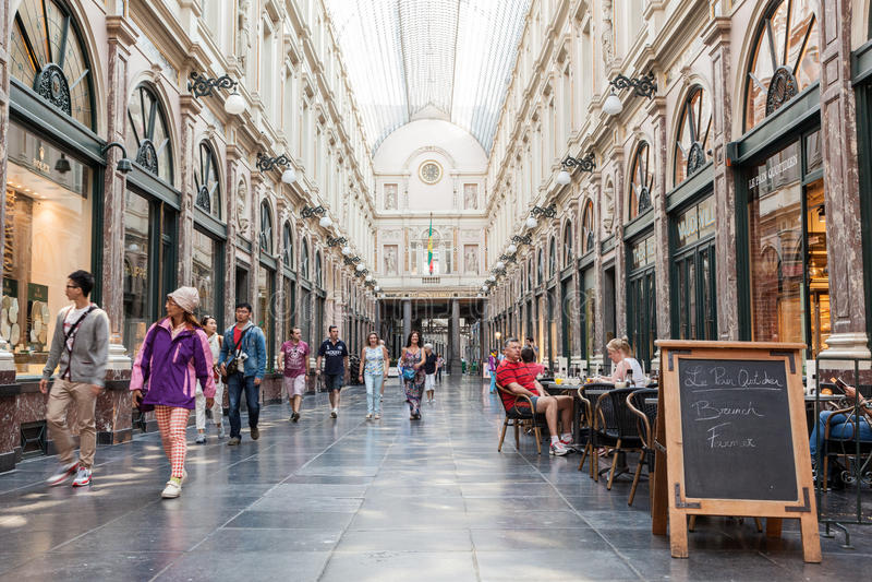Galeria De Los angeles Reine w Bruksela obraz royalty free