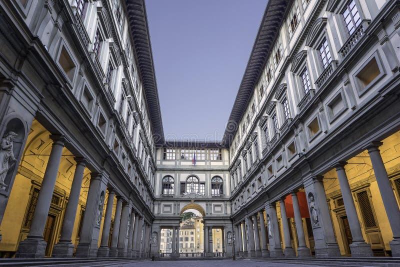 Galeria de Uffizi em Florença foto de stock