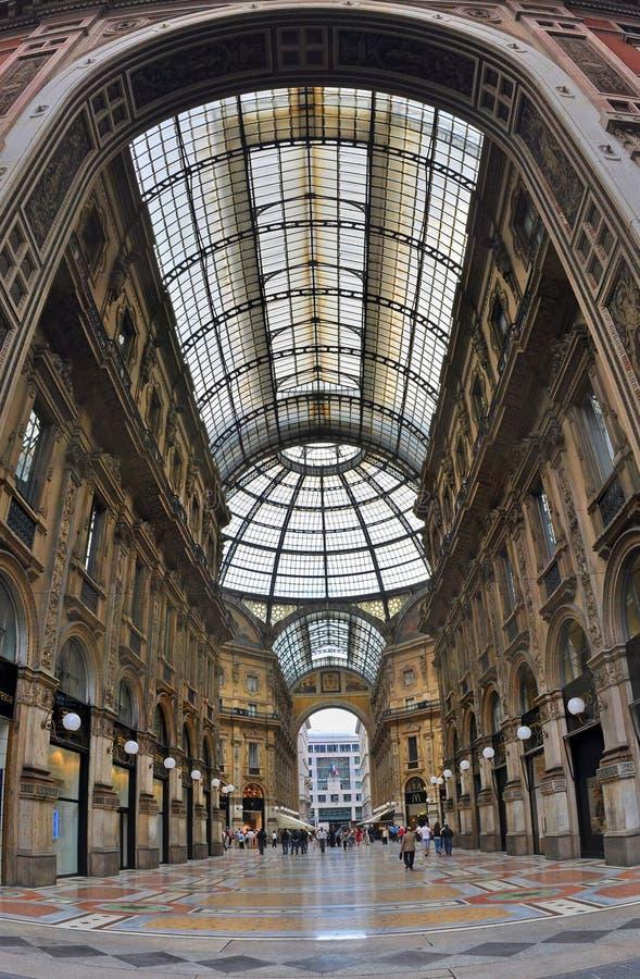 Galeria de Vittorio Emanuele II imagens de stock