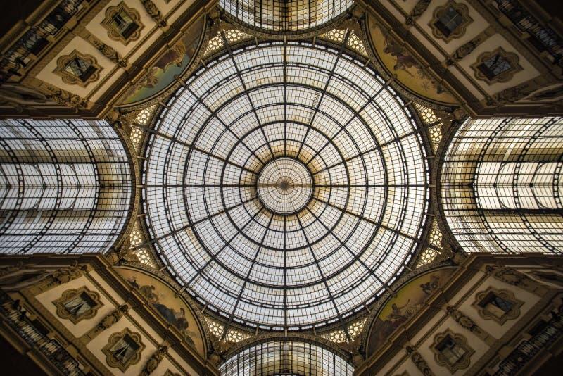 Galeria de Vittorio Emanuele II, Milão fotografia de stock royalty free