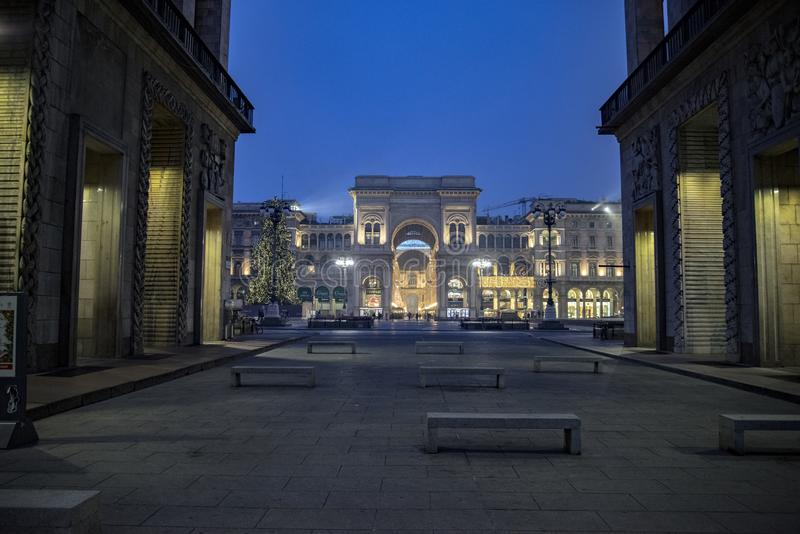 Galeria de Vittorio Emanuele II, Milão imagens de stock royalty free