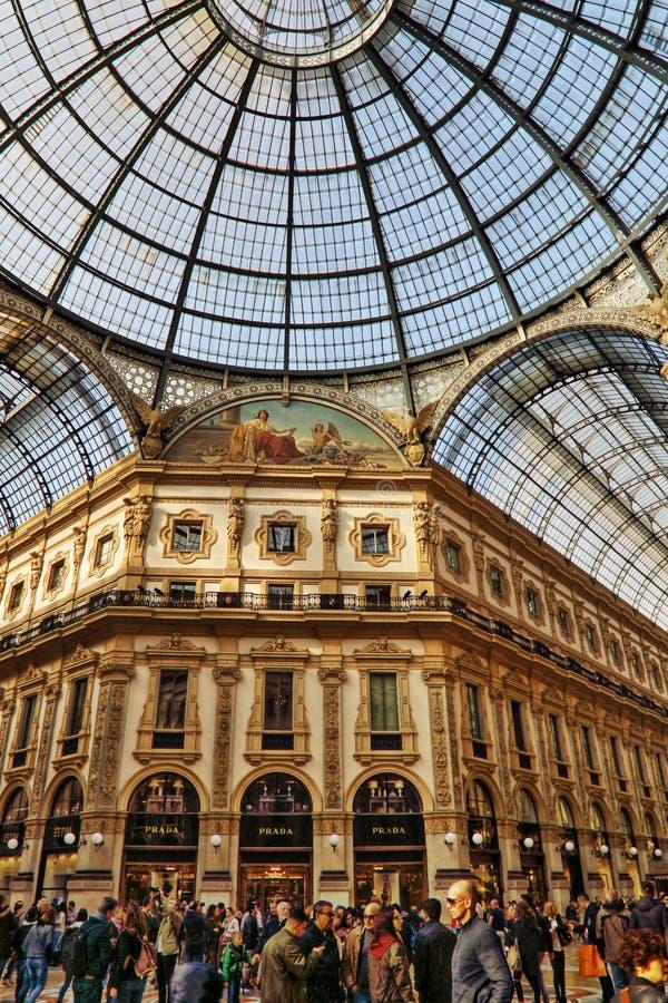 Galeria de Vittorio Emanuele II Milão, Itália imagem de stock