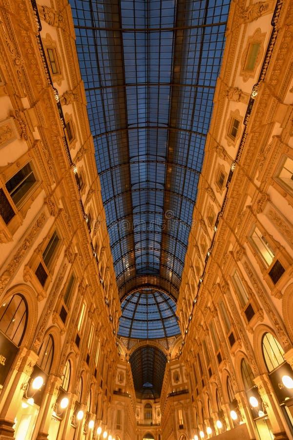 Galeria de Vittorio Emanuele II - Milão, Itália fotos de stock royalty free