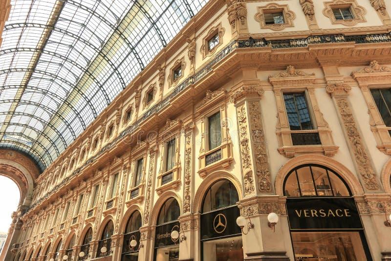Galeria de Vittorio Emanuele II Milão, Itália fotos de stock royalty free