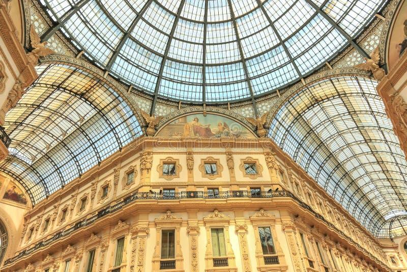 Galeria de Vittorio Emanuele II Milão, Itália fotos de stock