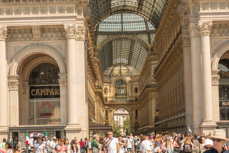 Galeria de Vittorio Emanuele II Milão, Itália imagens de stock