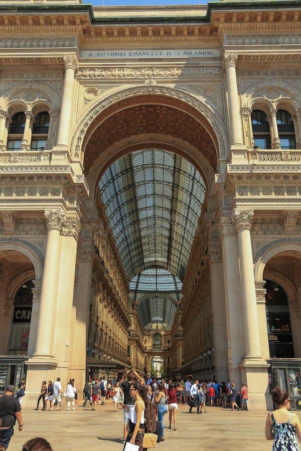 Galeria de Vittorio Emanuele II Milão, Itália imagem de stock royalty free