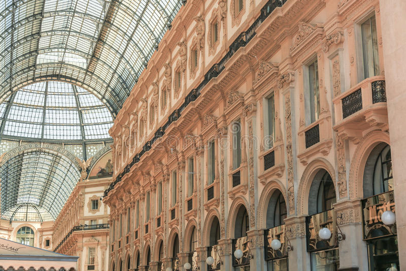 Galeria de Vittorio Emanuele II Milão, Itália foto de stock