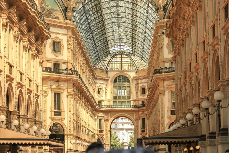 Galeria de Vittorio Emanuele II Milão, Itália foto de stock royalty free