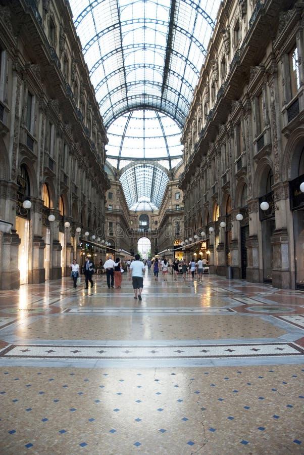 Galeria de Vittorio Emanuele - Milão fotografia de stock royalty free