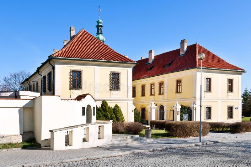 Galeria do castelo e da cidade, Kladno, Boêmia central, república checa fotos de stock