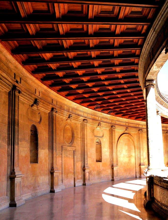 A galeria do palácio de Charles V fotografia de stock royalty free