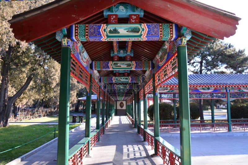 Galeria do parque de Zhongshan do Pequim fotografia de stock royalty free