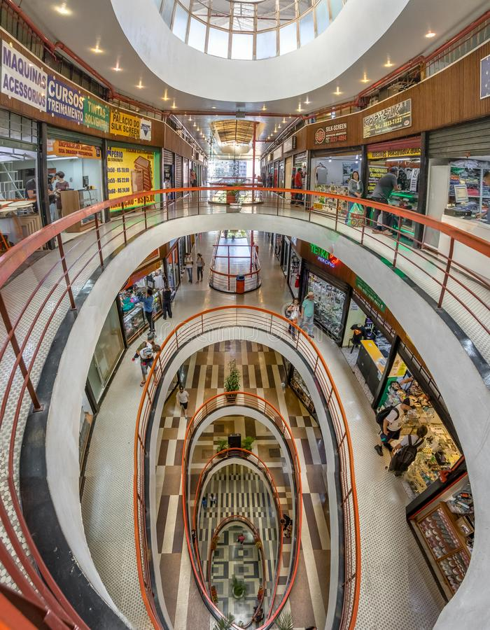 Galeria do Rock Rock Gallery Shopping Mall in Dowtown Sao Paulo - Sao Paulo, Brazil. Sao Paulo, Brazil - Nov 13, 2017: Galeria do Rock Rock Gallery Shopping Mall royalty free stock photo