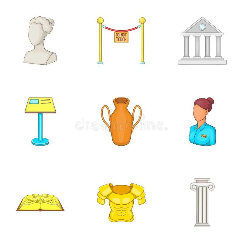 Download A Galeria Em ícones Do Museu Ajustou-se, Estilo Dos Desenhos Animados Ilustração do Vetor - Ilustração de projeto, cultura: 80101327