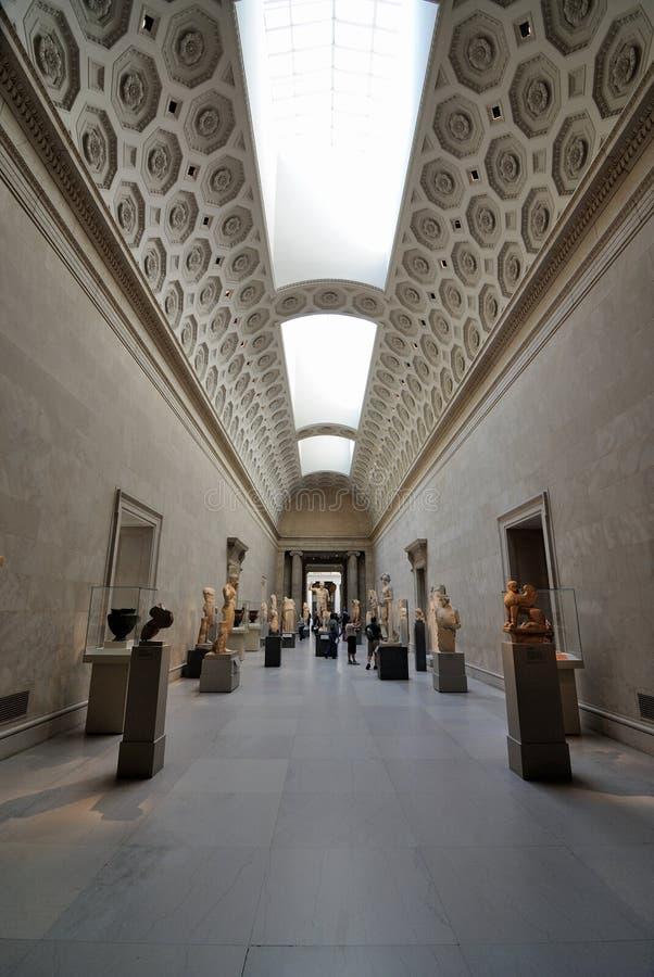 Galeria grega no museu de arte metropolitano fotos de stock
