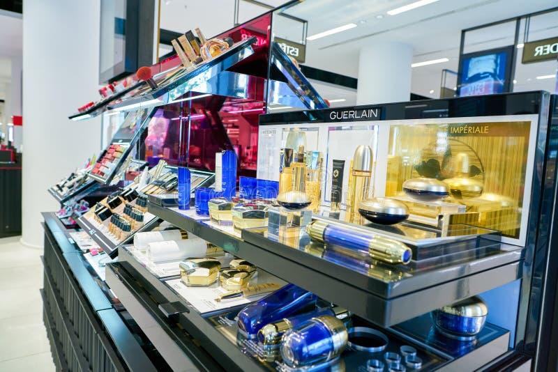 Galeria Kaufhof. DUSSELDORF, GERMANY - CIRCA SEPTEMBER, 2018: cosmetics on display at Galeria Kaufhof in Dusseldorf stock photo
