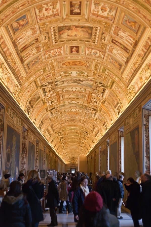 galeria pałac papieski Vatican zdjęcie stock