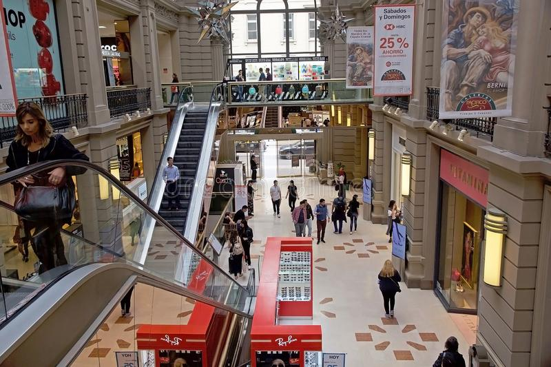 Galeria Pacificos in Buenos Aires, Argentina. It is a shopping centre located at the intersection of Florida Street and Cordoba Avenue stock photography