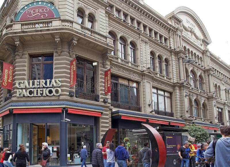 Galeria Pacificos in Buenos Aires, Argentina. It is a shopping centre located at the intersection of Florida Street and Cordoba Avenue royalty free stock photo