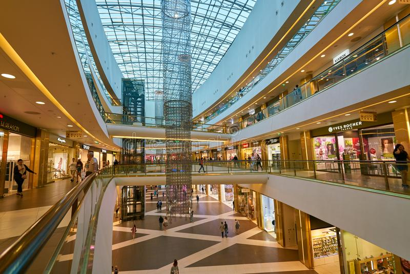 Galeria shopping center. SAINT PETERSBURG, RUSSIA - CIRCA AUGUST, 2017: inside Galeria shopping center. Galeria is major shopping and entertainment center is stock image