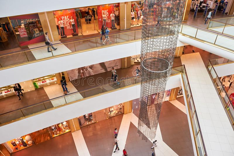 Galeria shopping center. SAINT PETERSBURG, RUSSIA - CIRCA JULY, 2015: inside of Galeria shopping center. Galeria is major shopping and entertainment center is stock photography