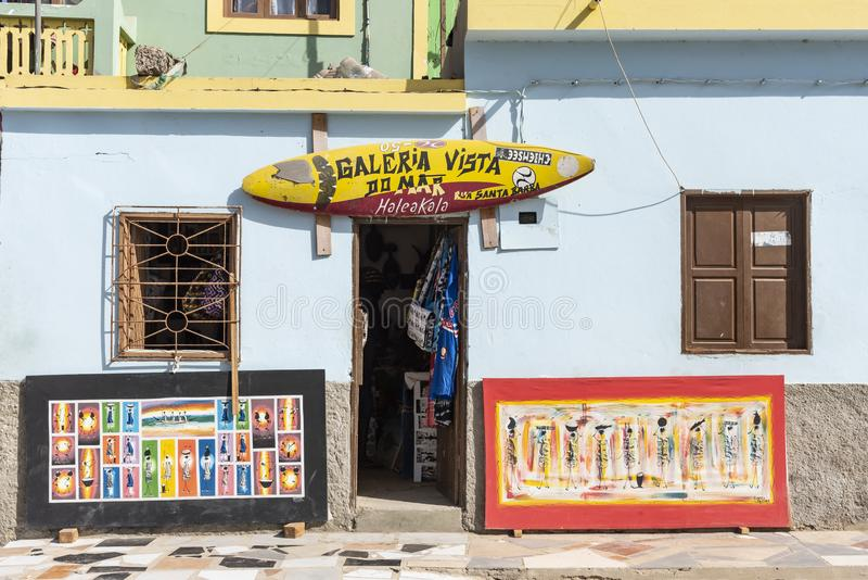 Galeria sztuki i pamiątkarskiego sklepu Sal Reja fotografia royalty free