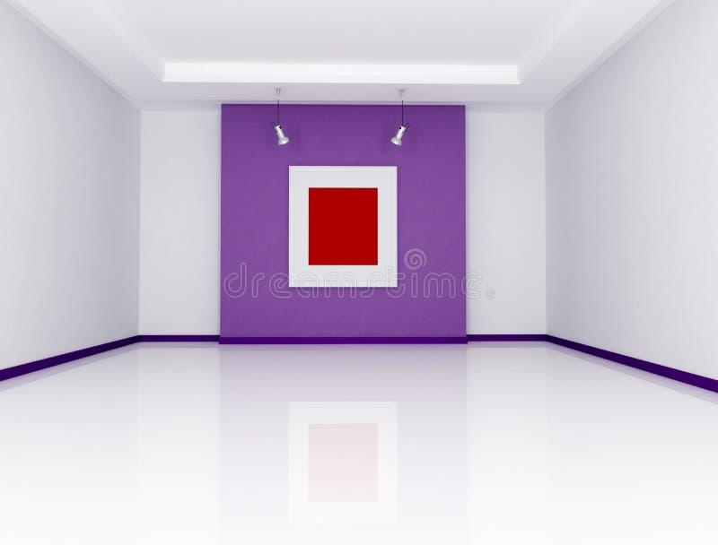 galeria sztuki minimalista royalty ilustracja