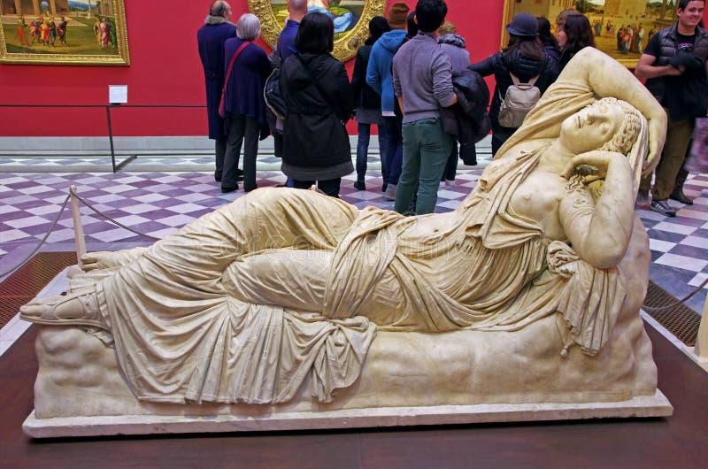 Galeria Uffizi em Florença, Itália fotos de stock