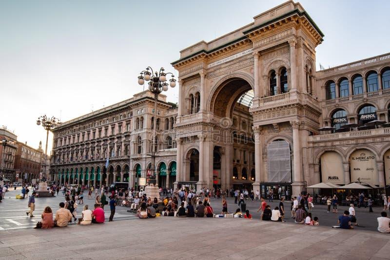 A galeria Vittorio Emanuele II, shopping italiano fotos de stock royalty free