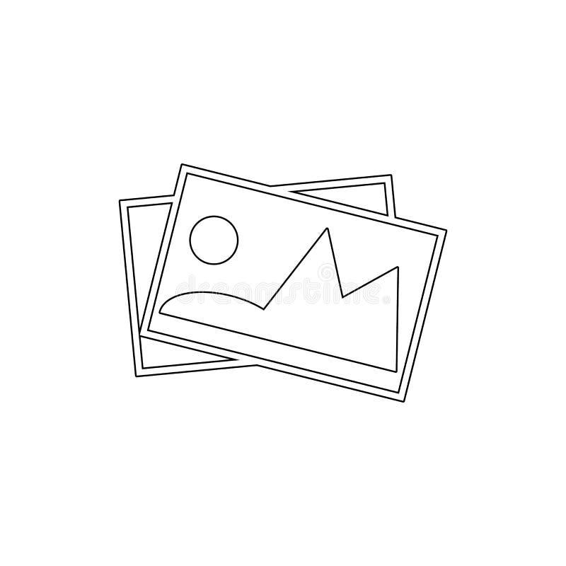 Galeria wizerunku fotografii obrazków konturu ikona Znaki i symbole mog? u?ywa? dla sieci, logo, mobilny app, UI, UX ilustracji