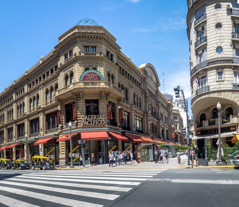 Galerias Pacifico en Calle Florida Florida Street - Buenos aires, Argentinië royalty-vrije stock afbeelding