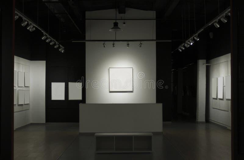 Galerie avec des photos photo stock