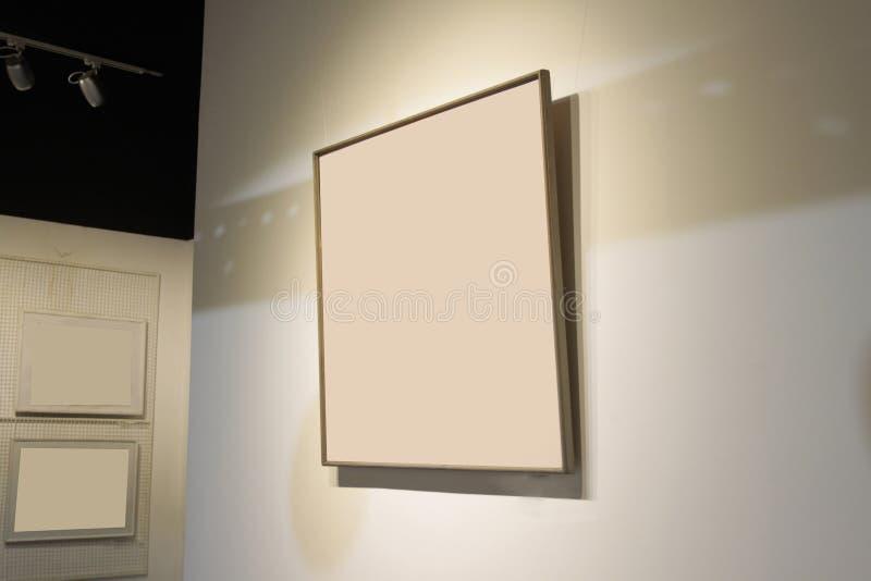 Galerie avec des photos image stock