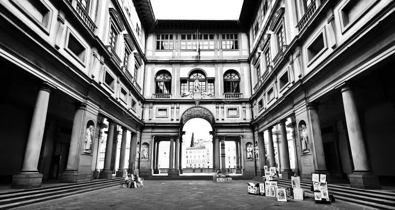Galerie célèbre d'Uffizi à Florence, Italie images libres de droits