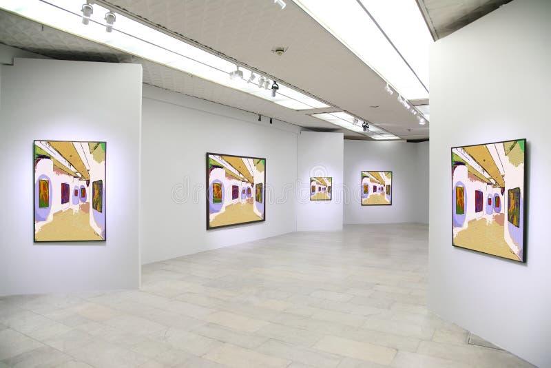 Galerie d'art 3 photo stock