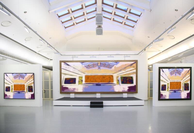 Galerie d'art. images libres de droits