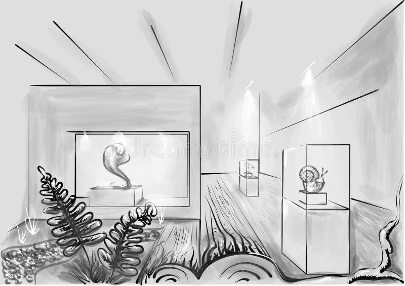 Download Galerie d'art illustration stock. Illustration du modèle - 77159165