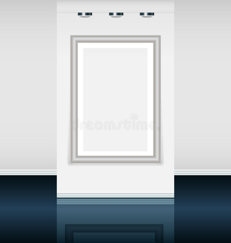 Galerie d'art virtuelle illustration stock