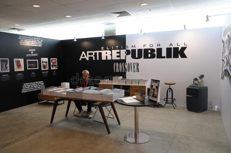 Galerie d'Artrepublik à Singapour Art Fair abordable 2017 photos stock