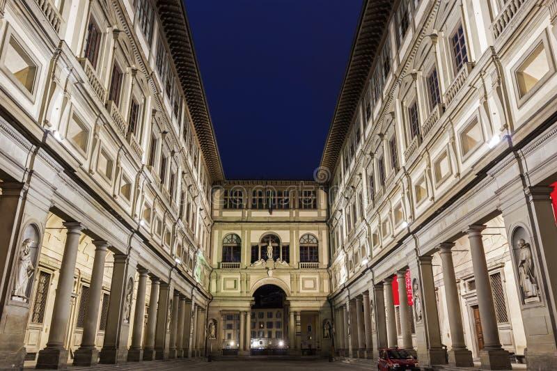 Galerie d'Uffizi à Florence en Italie photo libre de droits