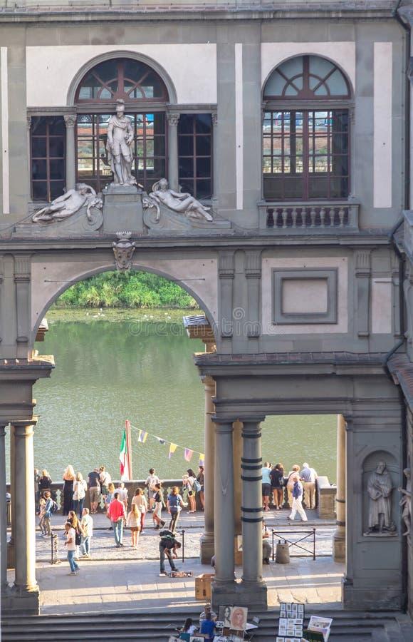 Galerie d'Uffizi à Florence, Italie photographie stock libre de droits