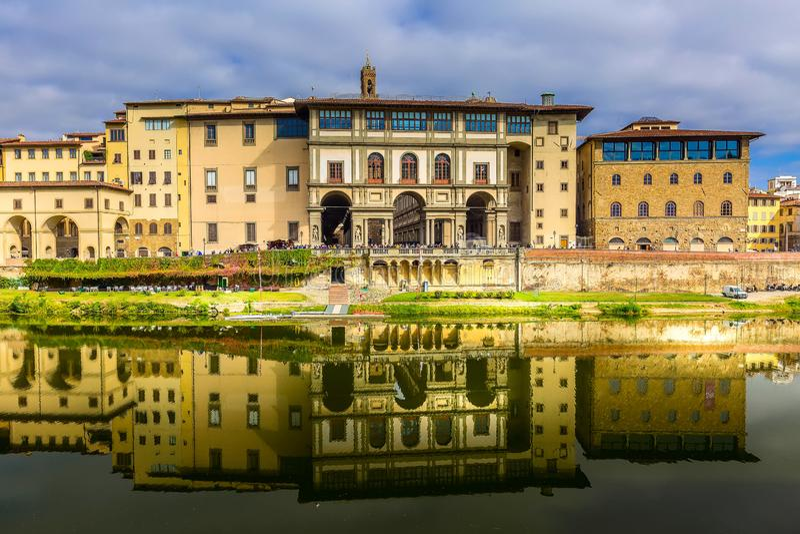 Galerie d'Uffizi à Florence, Toscane, Italie image libre de droits
