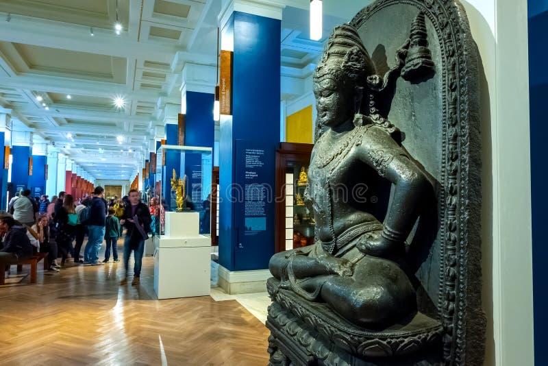 Galerie de la Chine et de l'Asie du sud chez British Museum à Londres, R-U photographie stock libre de droits